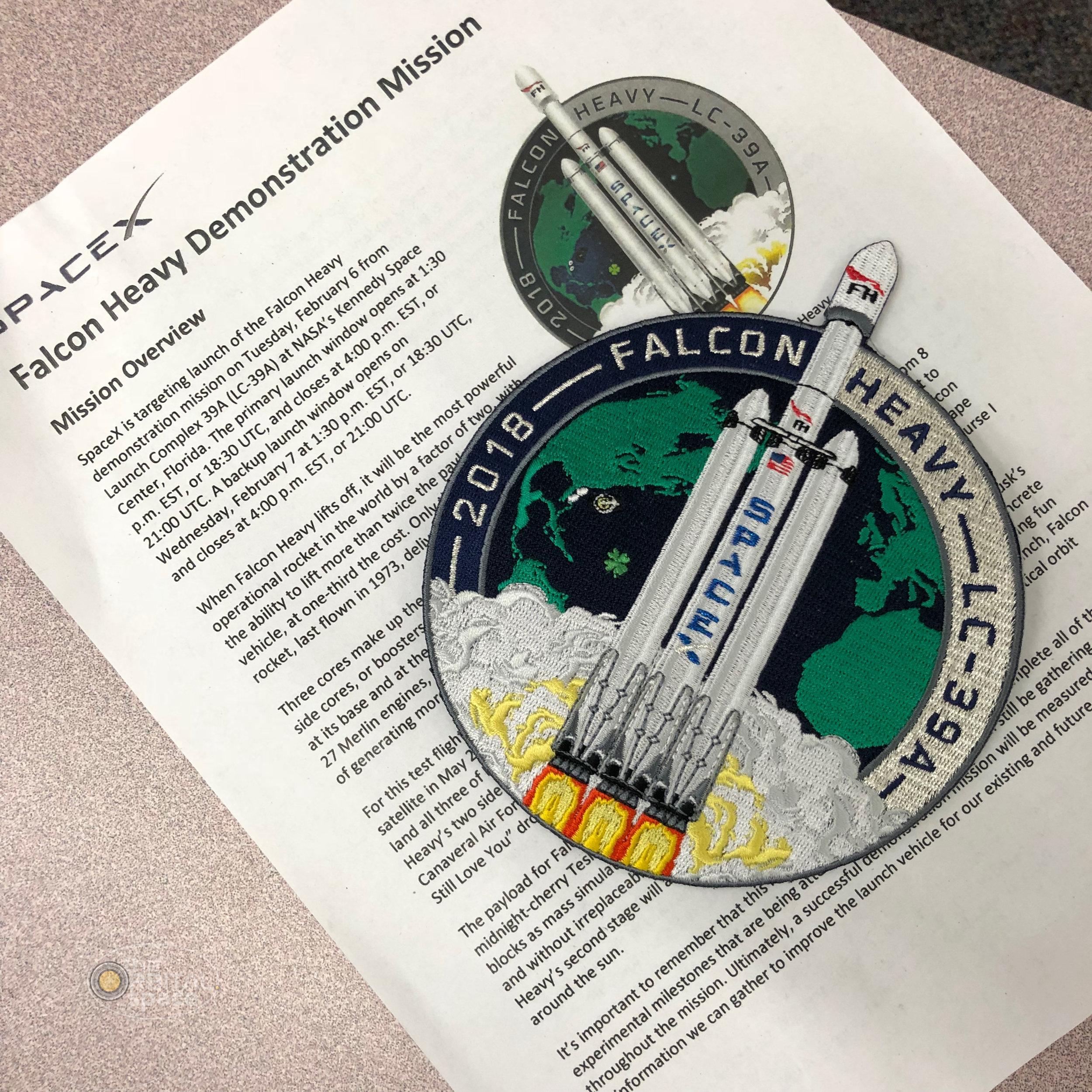 Falcon Heavy Press Briefing & Patch