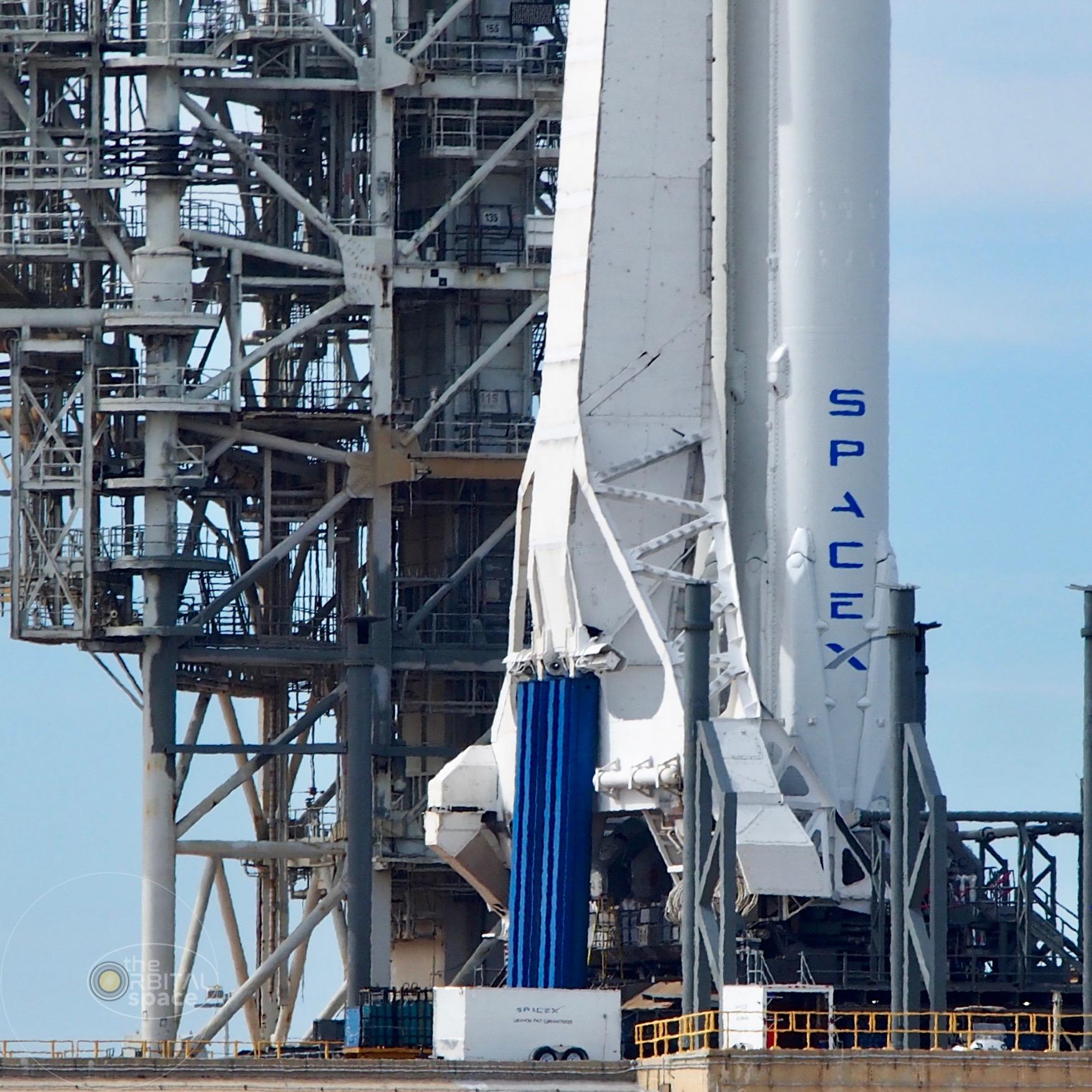 SpaceX's Falcon Heavy bottom half