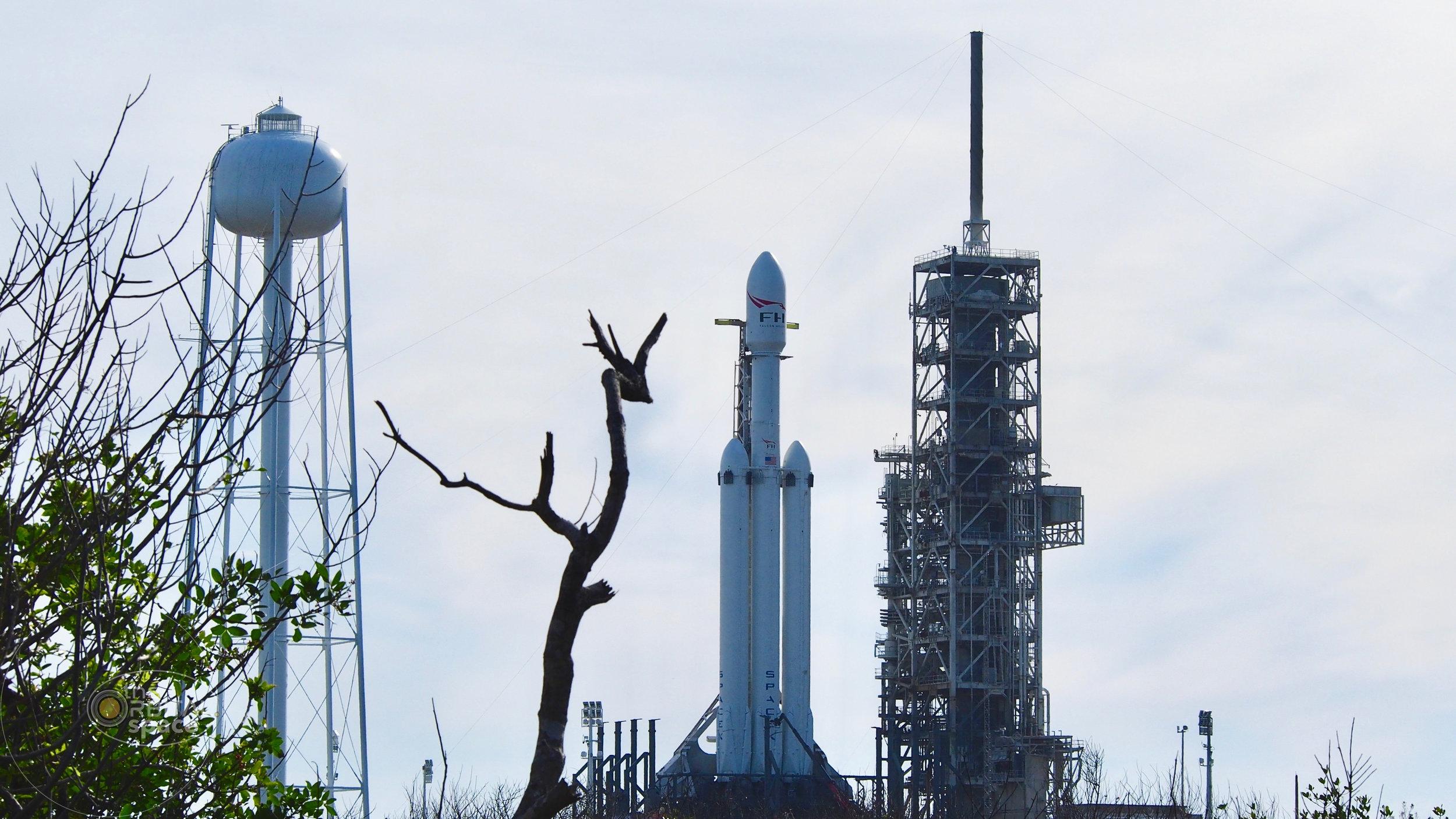 Falcon Heavy - North of LC-39A