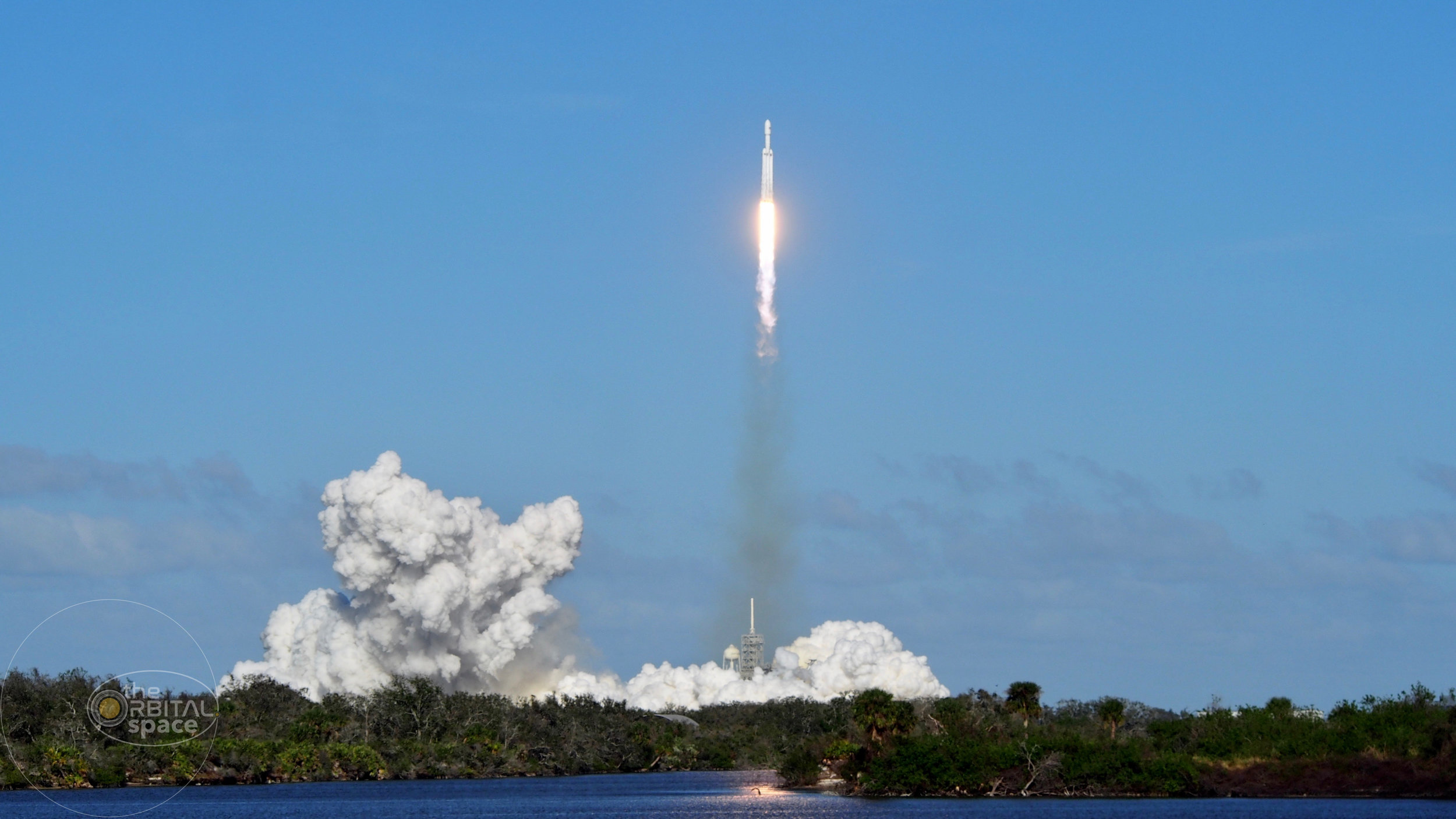 Falcon Heavy - See photographs from the maiden voyage of SpaceX's most powerful rocket.