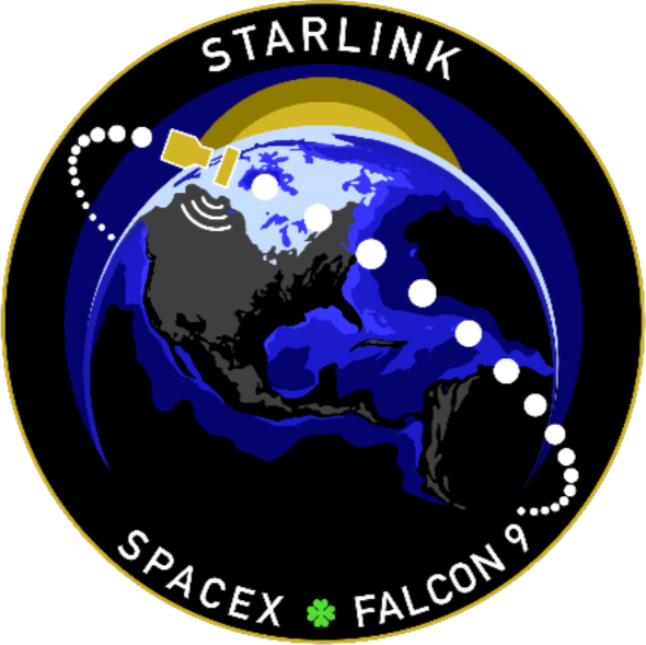 Starlink mission patch. Image credit: SpaceX