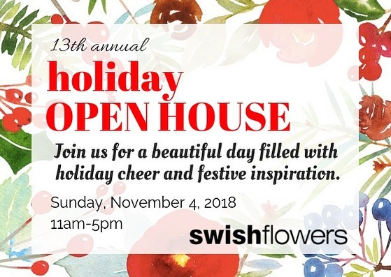 🎄♥️it's that time of year again♥️🎄 come visit any one of our locations on Sunday - November 4th, and see what we have in store for the holidays this year!  enjoy a sweet treat from @thelemonsquare & some cider (spiked if you like!), and be sure to bring a friend, the more the merrier, as always. ☝🏼oooooh and don't forget to enter your name into our draw, you could win flowers every month for a year! yay! ♥️see you this Sunday!♥️ #swishflowers