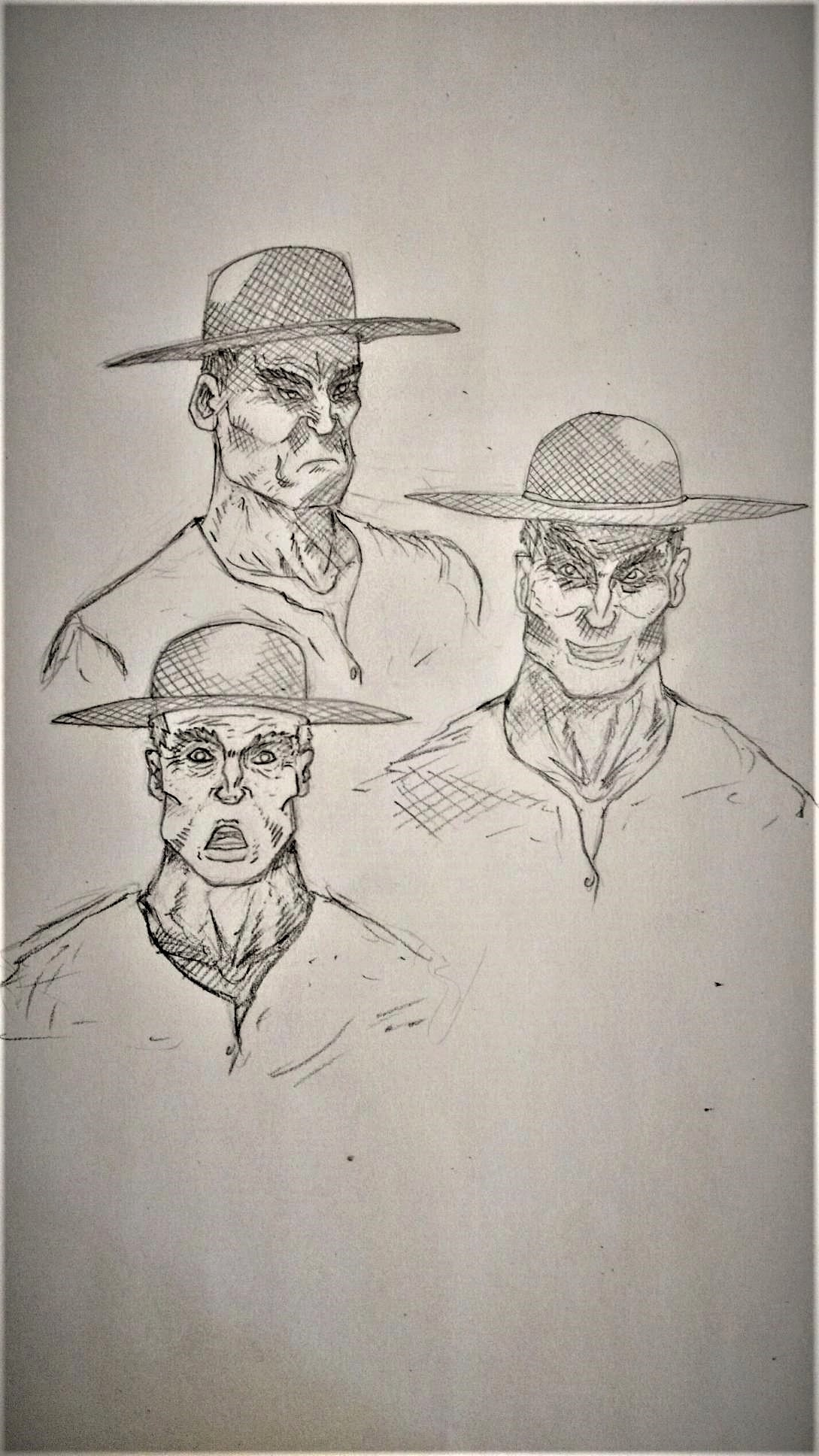 facial studies of nerrick, biggest bully in all of the cross.