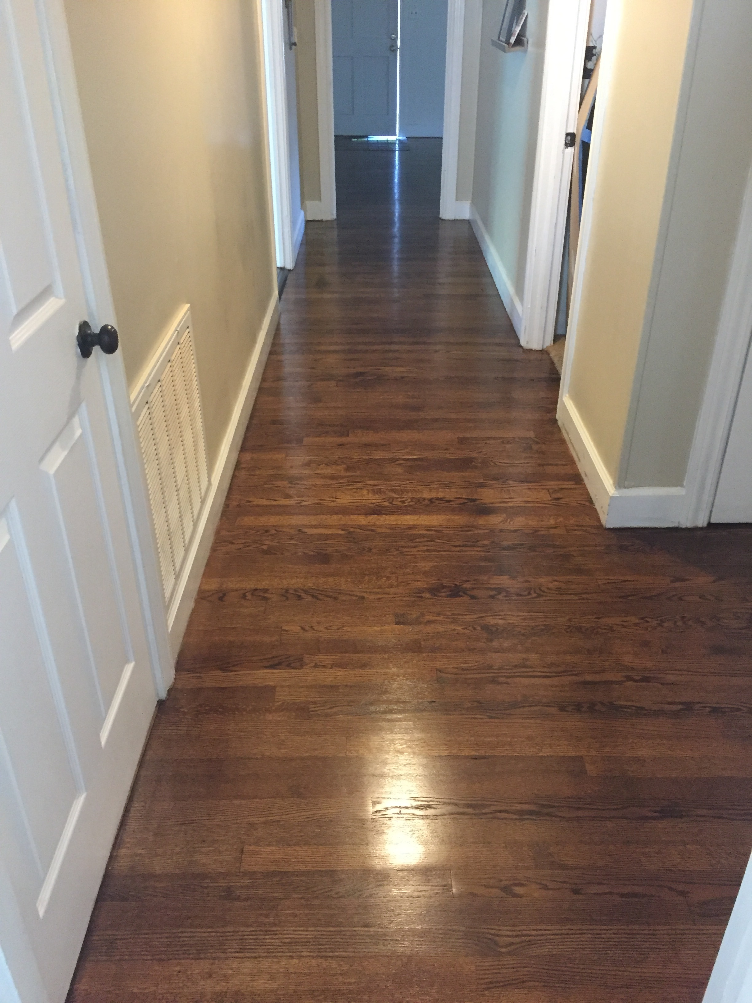 This it the view down the hallway(towards the front door!)