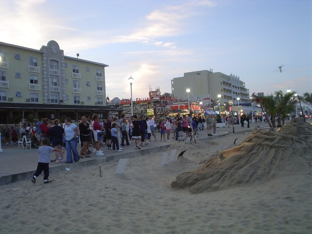 SAND SCULPTURES AT 2ND ST AND BOARDWALK, OC, MD