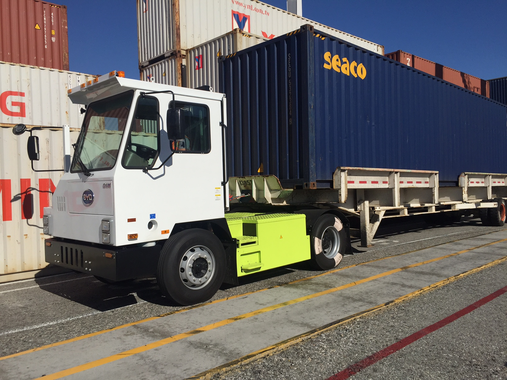 Electric Truck at the Green Onmi Terminal Demonstration Project