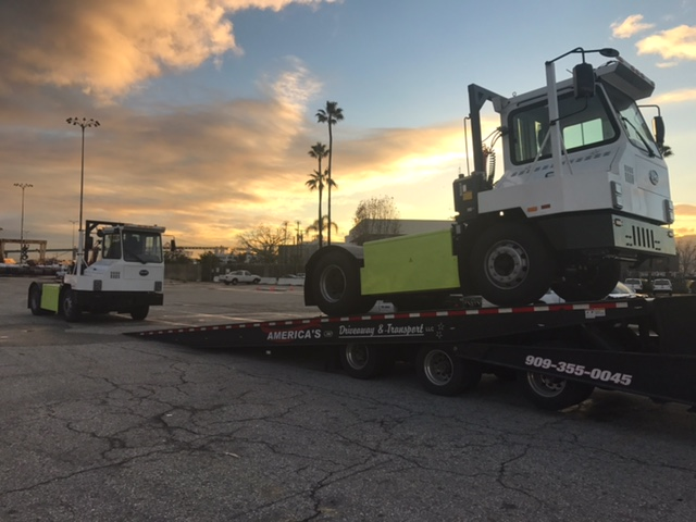 Ultra-clean zero emission yard trucks are delievered to the Green Onmi Demonstration Terminal