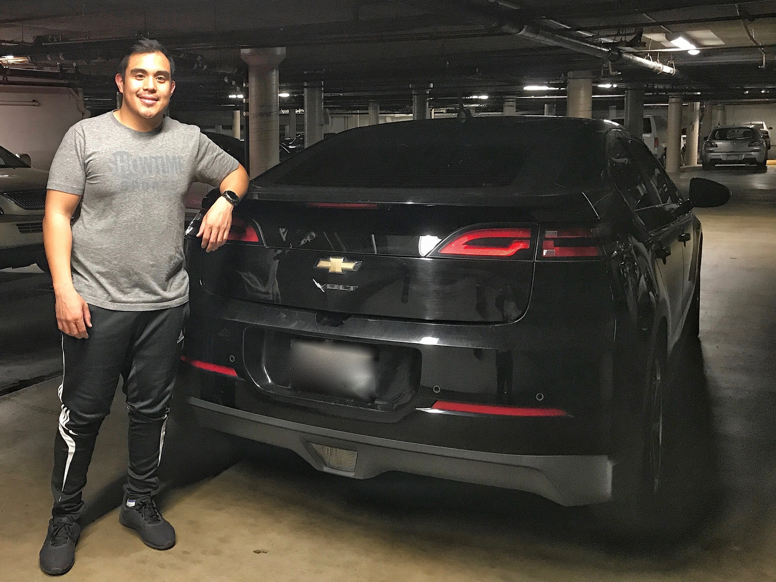 Mark Panes and his new clean car