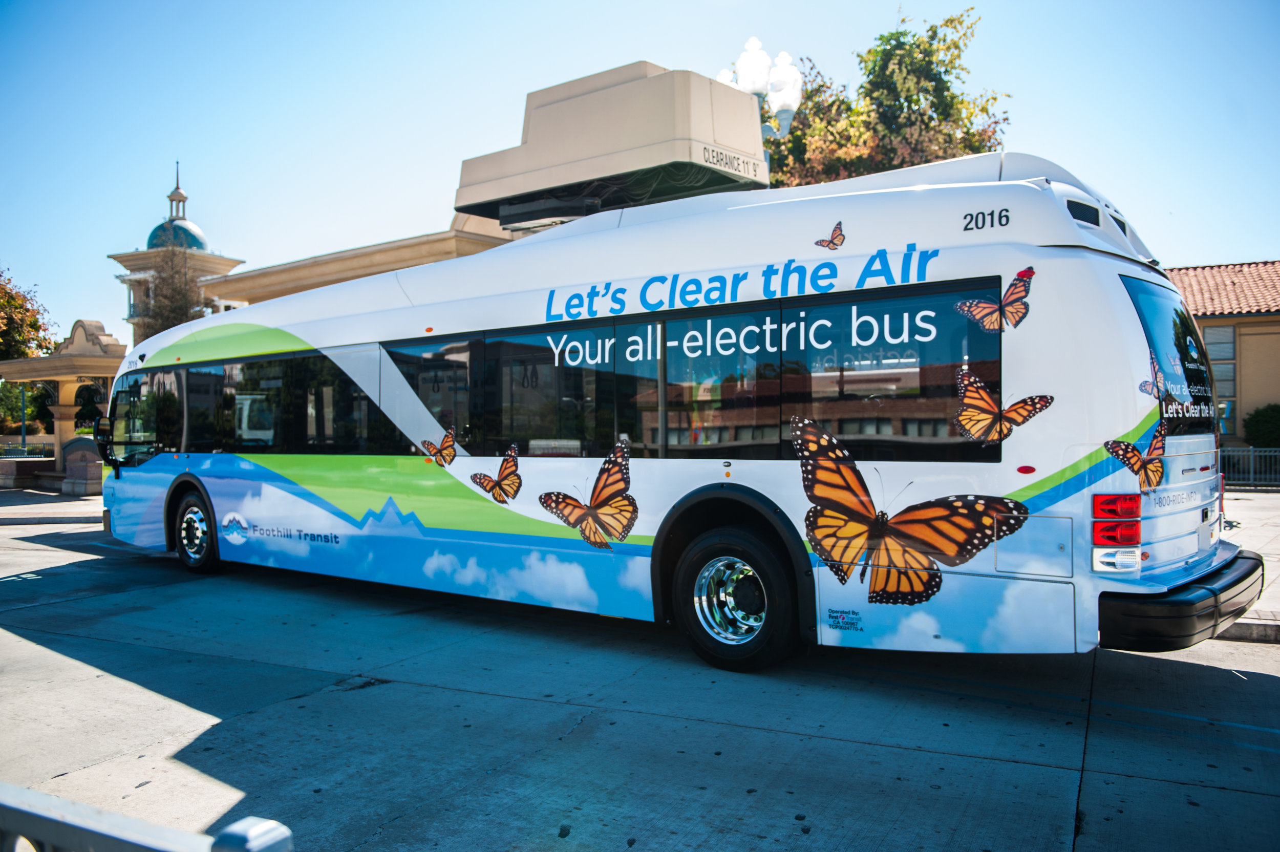 Foothill Transit electric bus