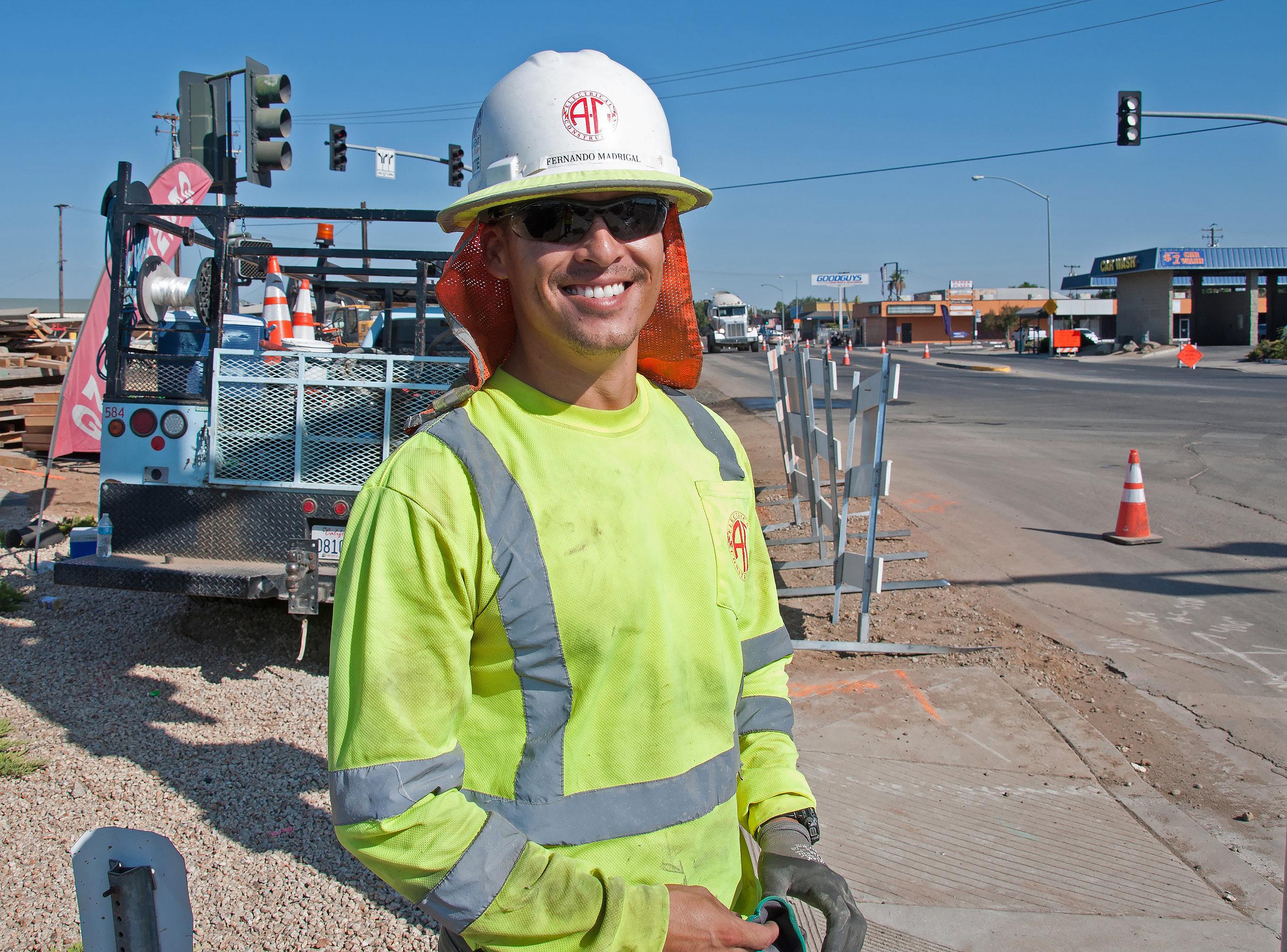 Fernando Madrigal, Jr. on the job