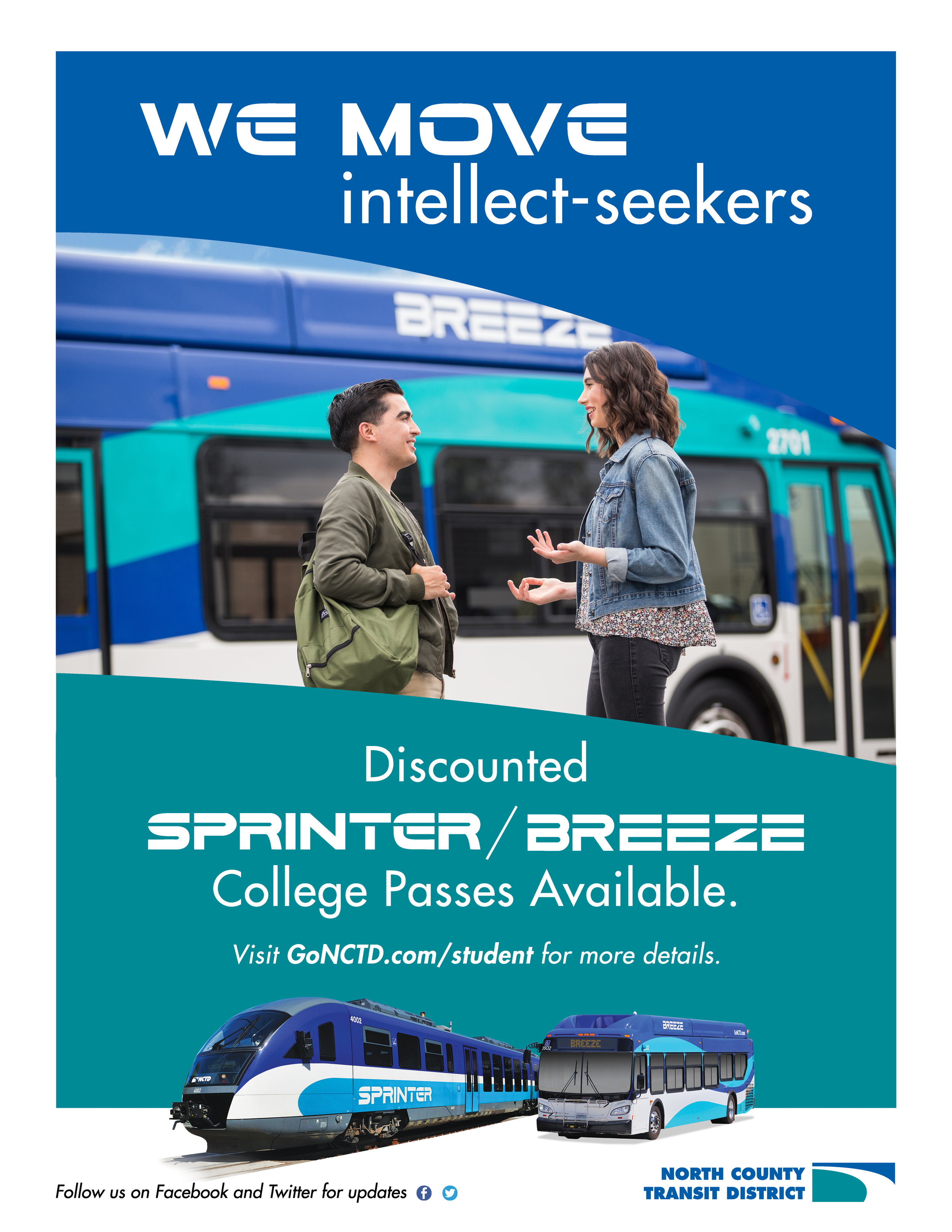 discounted college passes poster
