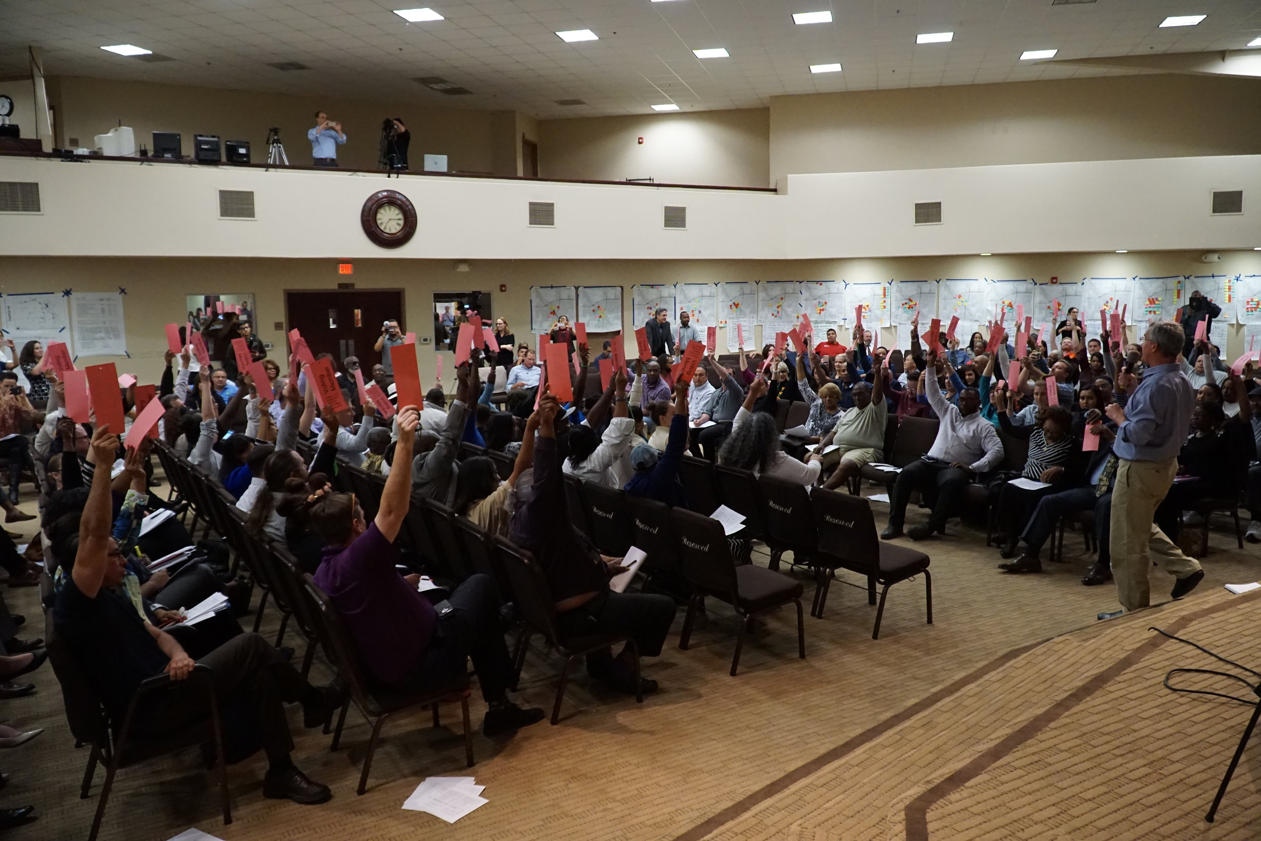 Fresno community members vote to select the final TCC package.  Photo Courtesy of Christian lomeli