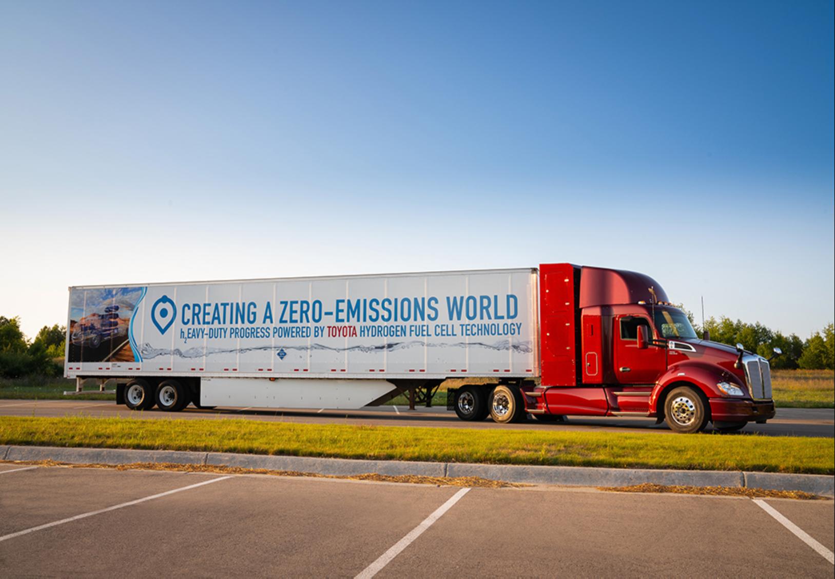 Zero emission freight truck