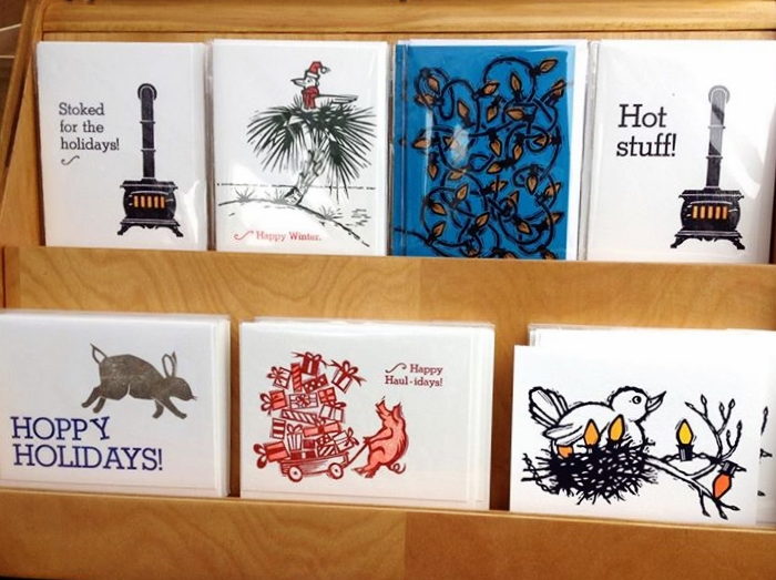Letterpress Holiday Cards from  Eric Leland's Manufactory