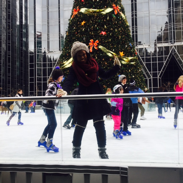 Ice Skating at the PPG Ice Rink-Pittsburgh, PA
