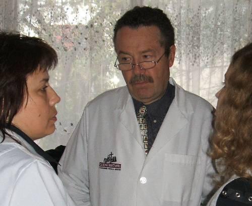 Natasha, the speech pathologist in their center (on the left).