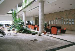 And we stayed at what was originally the Havana Hilton; unfortunately for the Hilton chain, it was expropriated by the communists within six months of its opening in 1959. The interior and exterior remind you of something built in 1959, don't they?