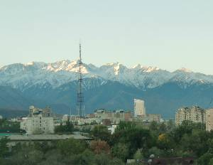 Almaty is situated in a beautiful setting nestled at the foot of the Zailiski Ala-Taumountains.