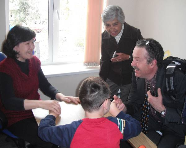 We visited a rehabilitation center in Almaty which provides activities and therapy for children and adults with Down Syndrome, cerebal palsy, and cognitive disabilities.