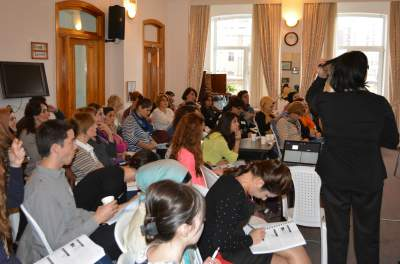 Our audience in Baku at a rehabilitation conference.