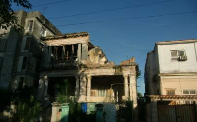 Crumbling homes are interspersed with beautifully restored mansions.