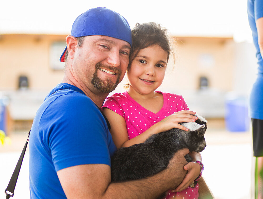 Sabrina & her Dad :D (plus a very cute goat guy!)