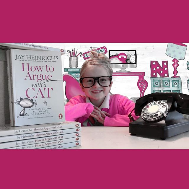 """Happy tenth birthday to my beautiful neice Holly! 🍰🎂🍬🍰🎂🍬🍰🎂🍬🍰🎂🍬If you tap the link in the profile you can see Holly doing an amazing job presenting our 'Making of' video. 👆please like and subscribe😃👍 👉(or, search YouTube for """"Why Jay Heinrichs wrote 'How To Argue With A Cat') 😊 I love Holly SOOOO much! Happy birthday darling!! @littlelegs__  #birthday #tenthbirthday #iloveyou #cat #cats #catsofinstagram #ilovemycat #book #books #bookworm #newbook #bookstagram #howtoarguewithacat #crazycatlady #persuasion #catlover #catsandbooks #booksandcats"""