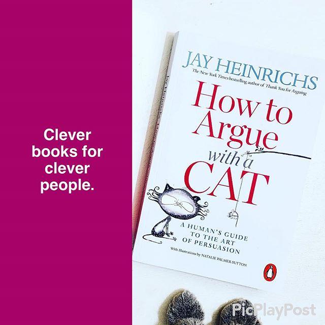 """How To Argue With A Cat"" available in the Smart Thinking section of Waterstones 👍 . . 🐱🎓🐱🎓🐱🎓🐱🎓🐱🎓🐱🎓🐱 #cambridge #cambridgeuni #cambridgestudent #persuasion #persuasivespeech  #rhetoric #howtoargue #bookstagram #rhetoriclesson #booksandcats #catsandbooks #catsofinstagram #booklover #teacher #teachers #professor #howtoarguewithacat #cat #cats #catlover #giftsforcatlovers #yaleuniversity #cambridgeuniversity #waterstones #waterstonescambridge #waterstonesamsterdam #waterstonesedinburgh #waterstonespiccadilly #waterstonesgowerstreet #waterstonesbrighton"