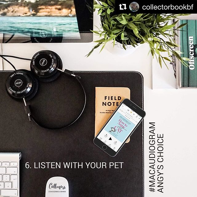 #Repost @collectorbookbf ・・・ #macaudiogram Day 6: Listen with your pet #HowToArgueWithACat by Jay Heinrichs  I am sure my cats won't appreciate the persuasive skills I would learn from this book to make them eat their food LOL  #nonfiction #catinthetitle #randomhouseaudio #loveaudiobooks  #jiam #cat #cats #giftsforcatlovers #teachers #teach #howtoargue #teachersonsummerbreak #teachersofinstagram #summerreading #audiobook #catsandbooks #booksandcats #meow #neko #gato #teachersfollowteachers #bookwormproblems #artofpersuasion