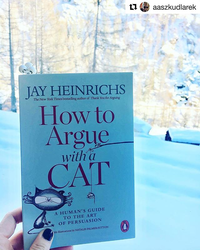 #Repost @aaszkudlarek ❤️❤️❤️❤️❤️ ・・・ Always have something to read when traveling 🧳 #howtoarguewithacat #howto #influence #persuade #swissalps #artofpersuasion #jayheinrichs #bookstagram #books #reading #travelling #catsofinstagram #cats #teacher #teachersofinstagram #cats #cat #booksandcats #catsandbooks #teachers #howtoargue #catlover
