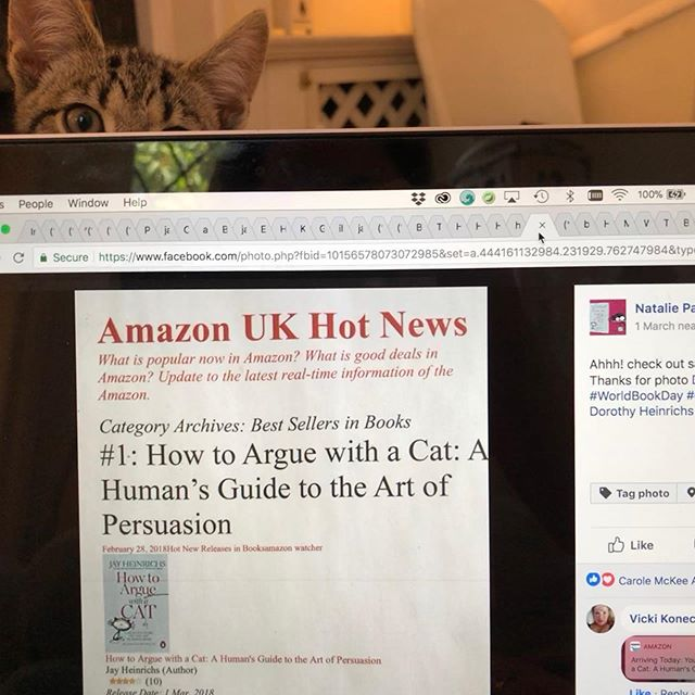 "Ollie was exited as our book came in on the ""Amazon UK Hot News"" ☺️ #smartthinkingbooks #booksandcats #bookshelf #artofpersuasion #cats #cleverbook #cleverbooks #businessbook #businessbooks #business #businesscards #businessowner #teacher #teachersofinstagram #middleschoolteacher #middleschoolela #highschoolteacher #school #forwardthinking #forwardthinkingschools #cat #teachersofenglish #rhetoricaldevices #rhetoricschool #rhetoric #howtoarguewithacat #publicspeaking #publicspeakingtips #argument"
