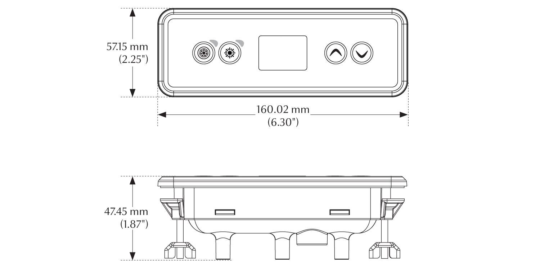 Dimensions du clavier pour spa in.k300
