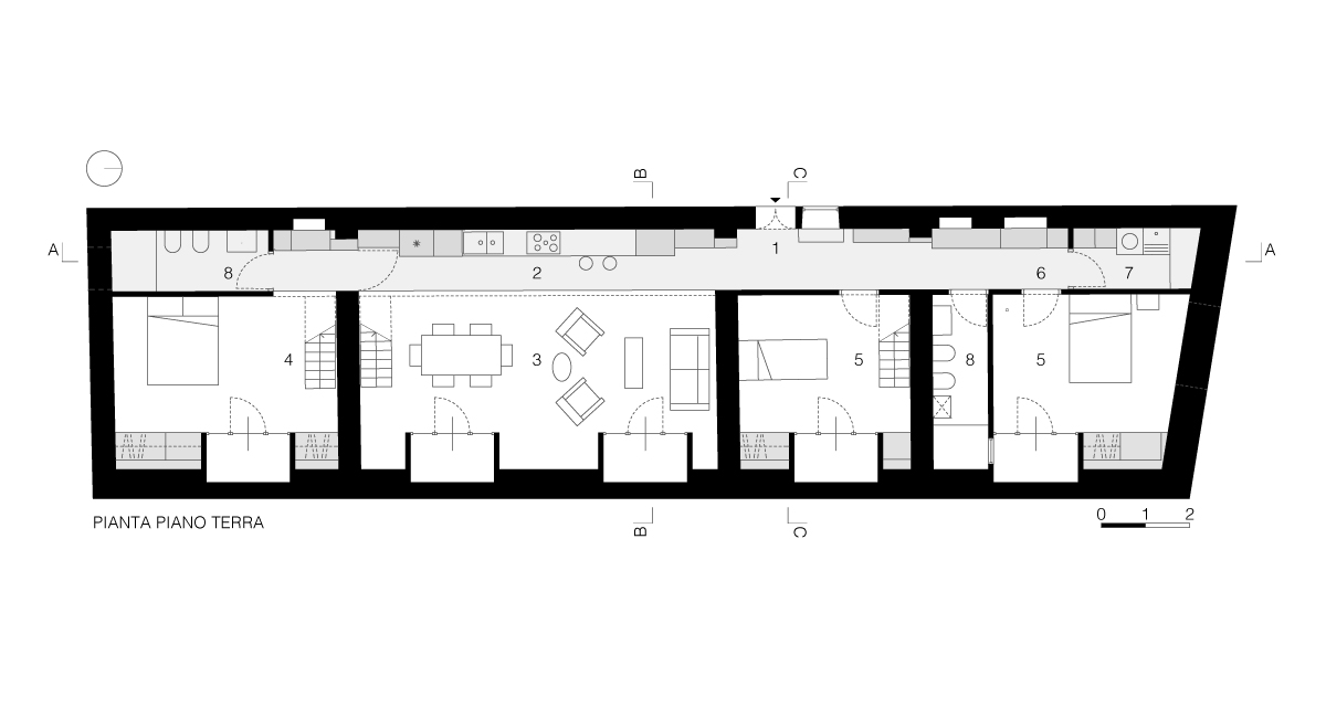casa moscova - pianta piano terra