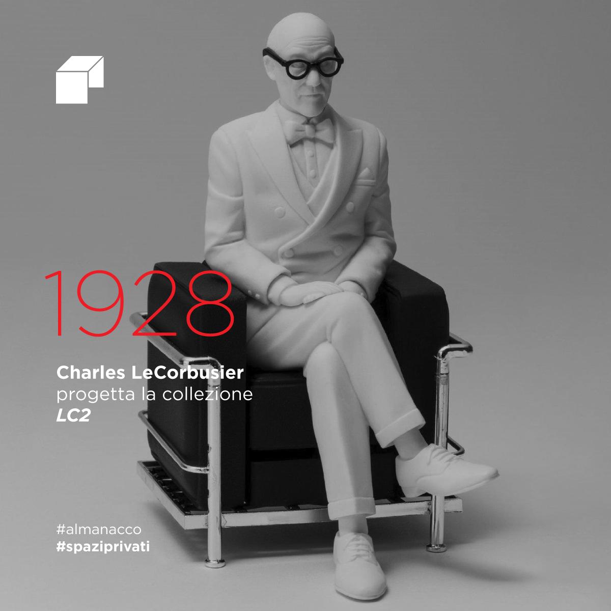 Charles Le Corbusier progetta la collezione LC2
