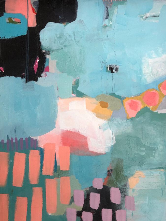 Original Abstract 30 x 40in - Andrea Soos