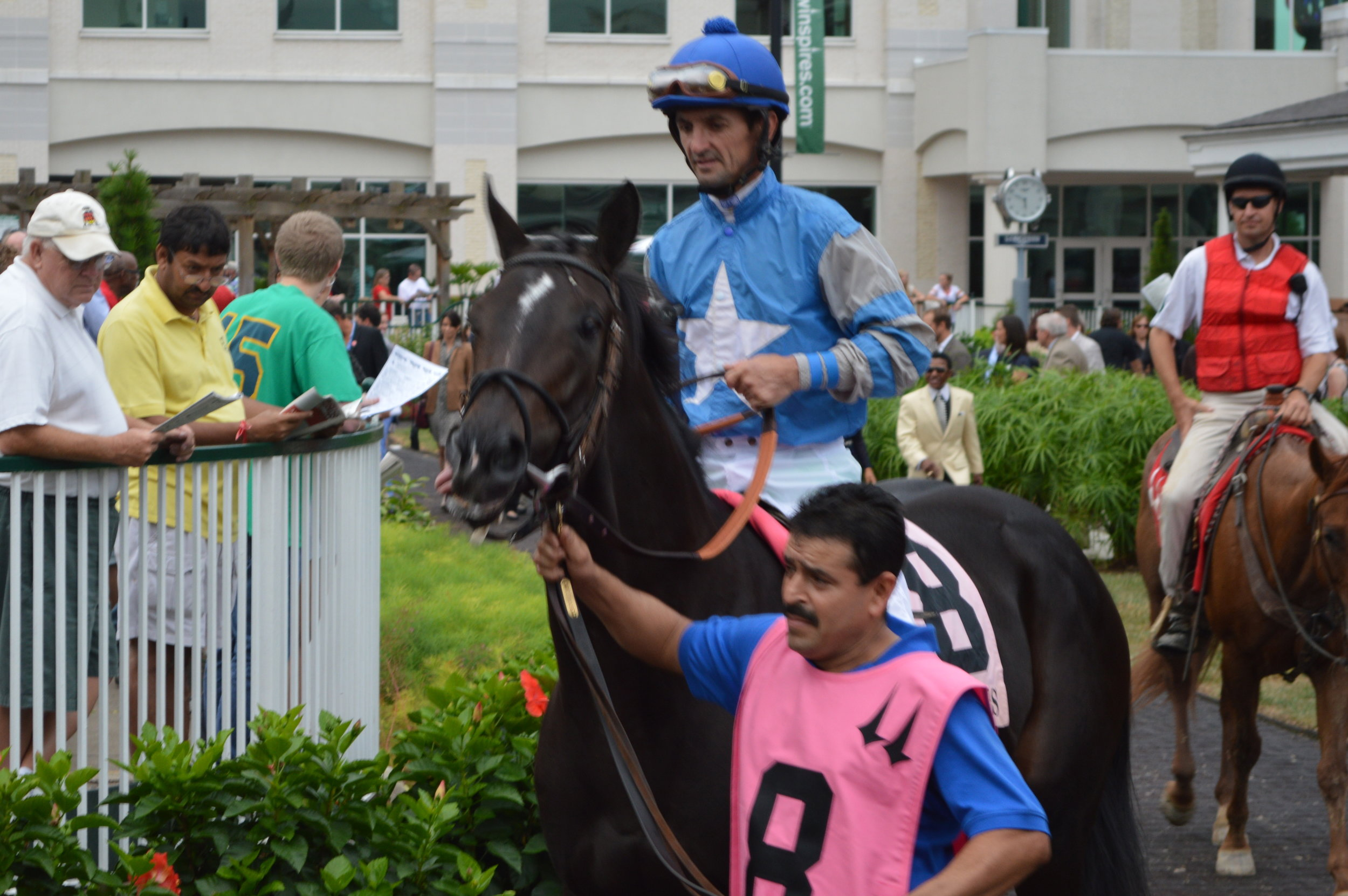 Not This Time and Robby Albarado, winners of the Iroquois Stakes.