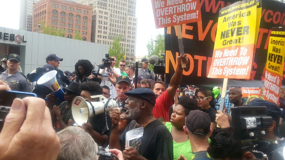 Carl Dix in Public Square, Cleveland, During the RNC