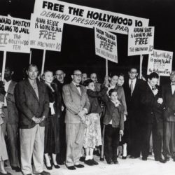 Protest against the attacks on the Hollywood 10