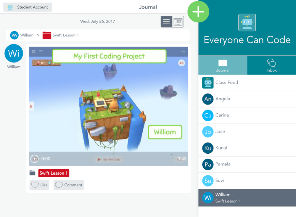 Everyone Can Code, Swift Playgrounds and Seesaw