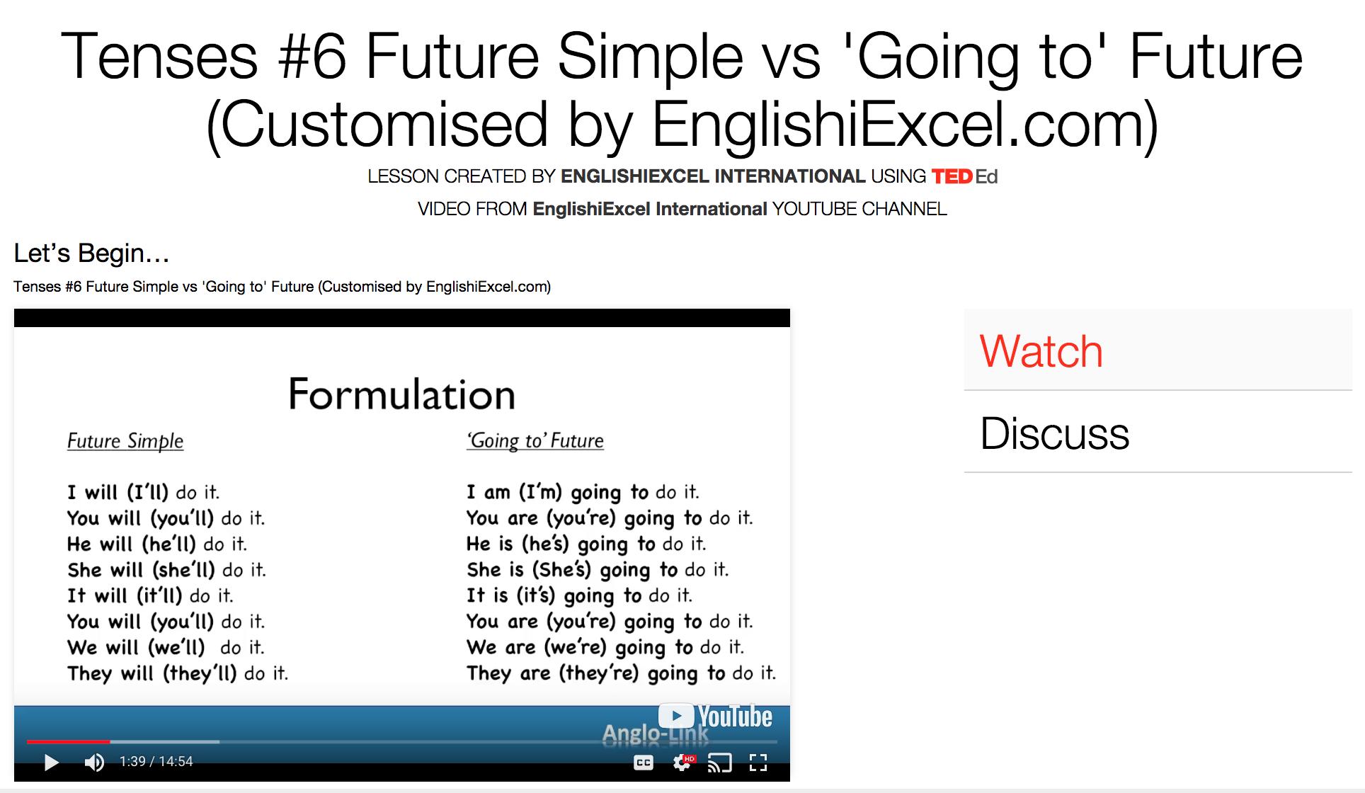 Unit 11: Tenses #6 - Future Simple vs 'Going To' Future