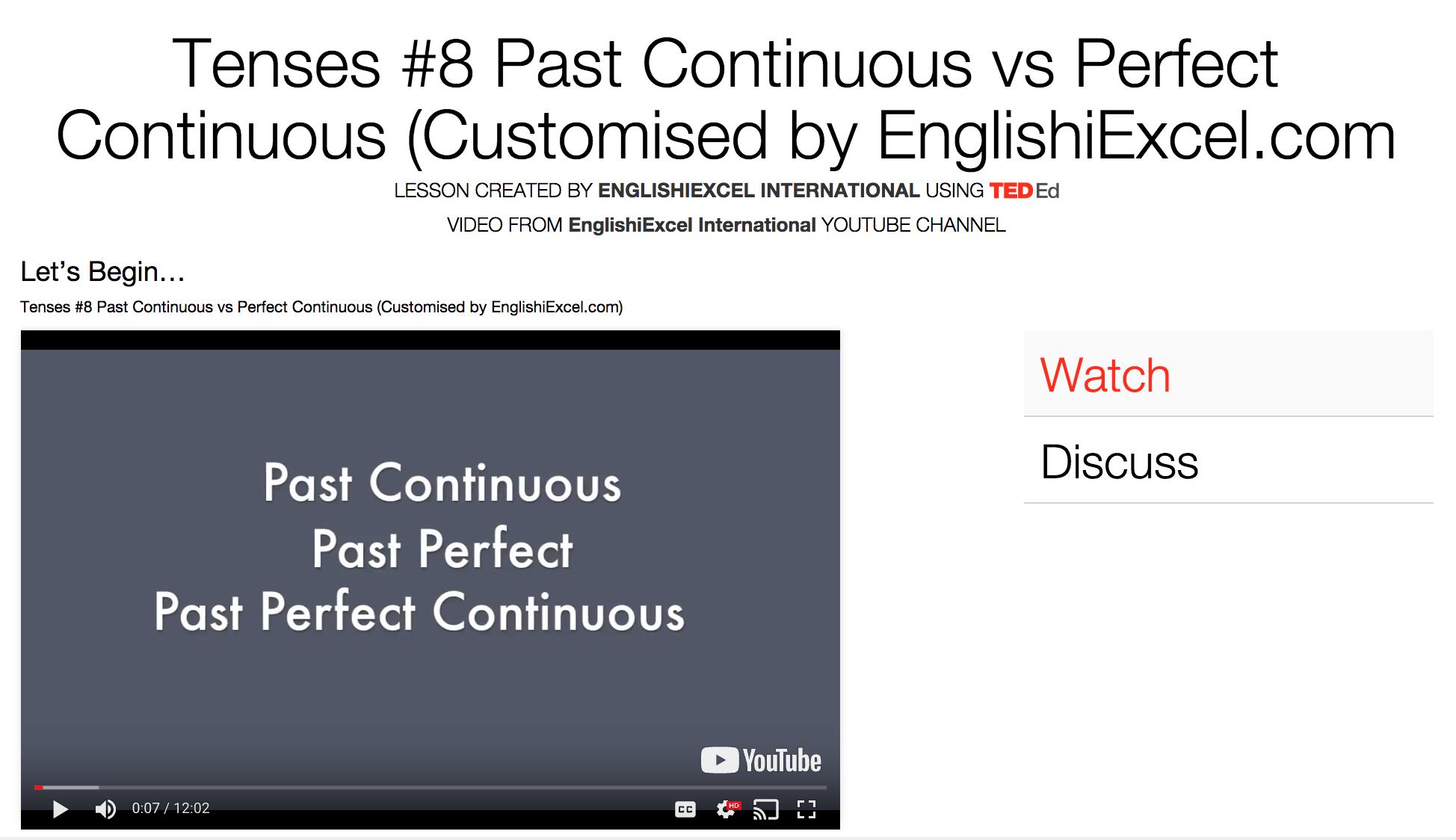 Unit 13: Tenses #8 - Past Continuous vs Past Perfect vs Past Perfect Continuous