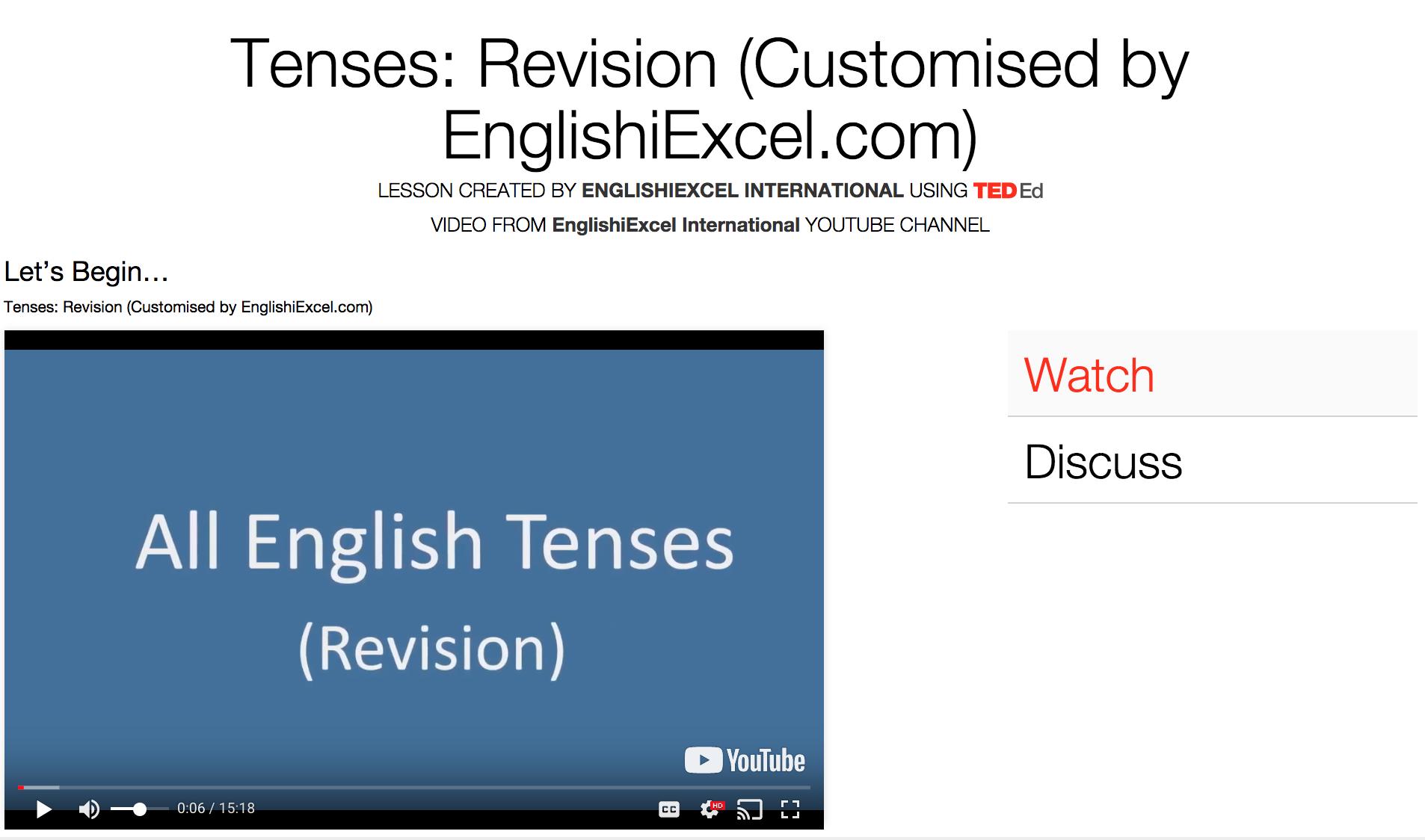 Unit 15:Tenses#10 Revision - Revision