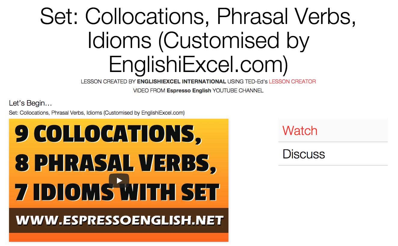 Unit 6: Collocations, Phrasal Verbs, Idioms -
