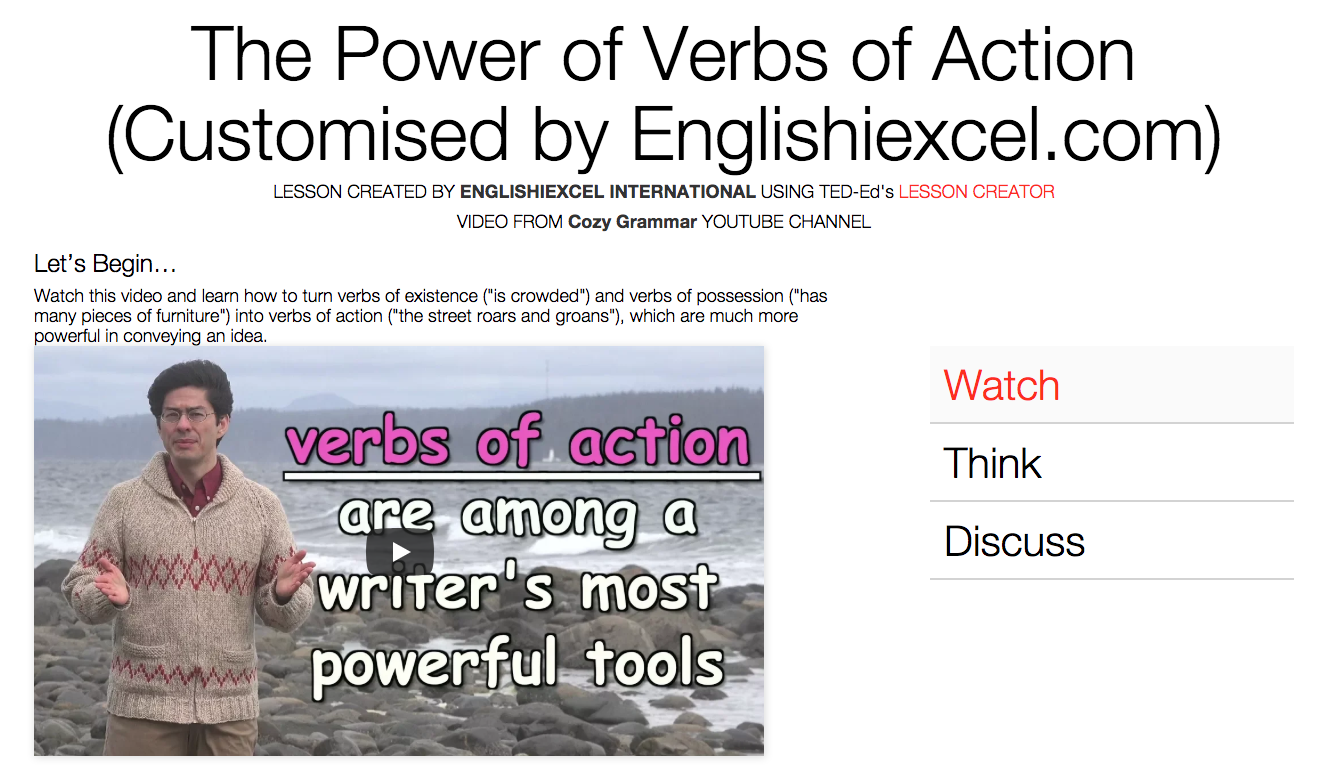 Unit 4: Verbs of Action - https://ed.ted.com/on/W6naWJil