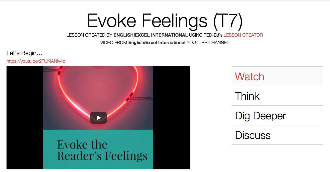 Unit 5: Evoke Reader's Emotions - https://ed.ted.com/on/dCpJ4hv0