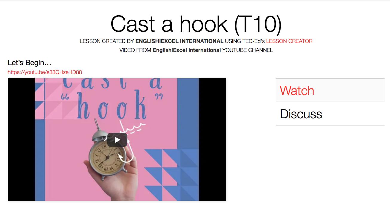 Unit 8: Cast a Hook - https://ed.ted.com/on/TMC9RwYd