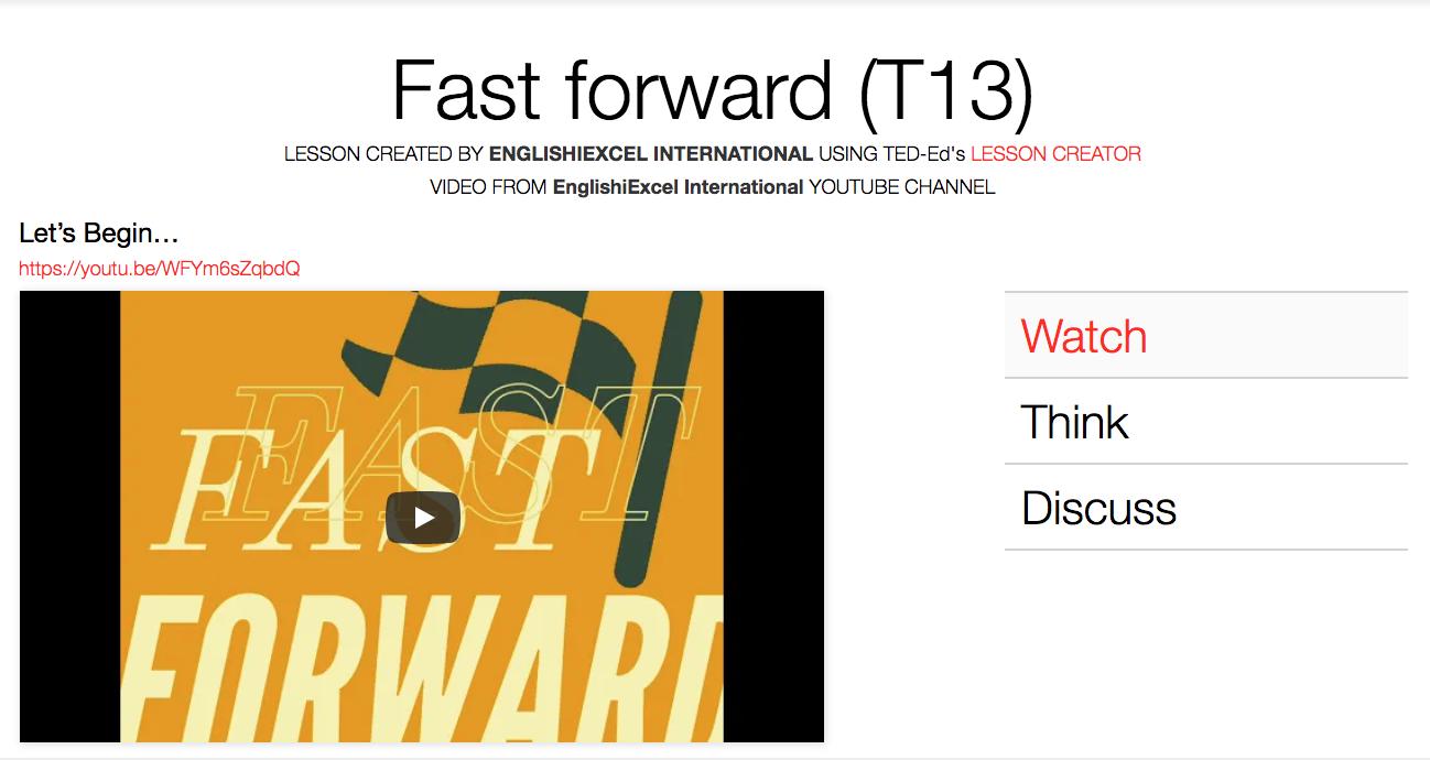 Unit 11: Fast Forward - https://ed.ted.com/on/KFsiKymD