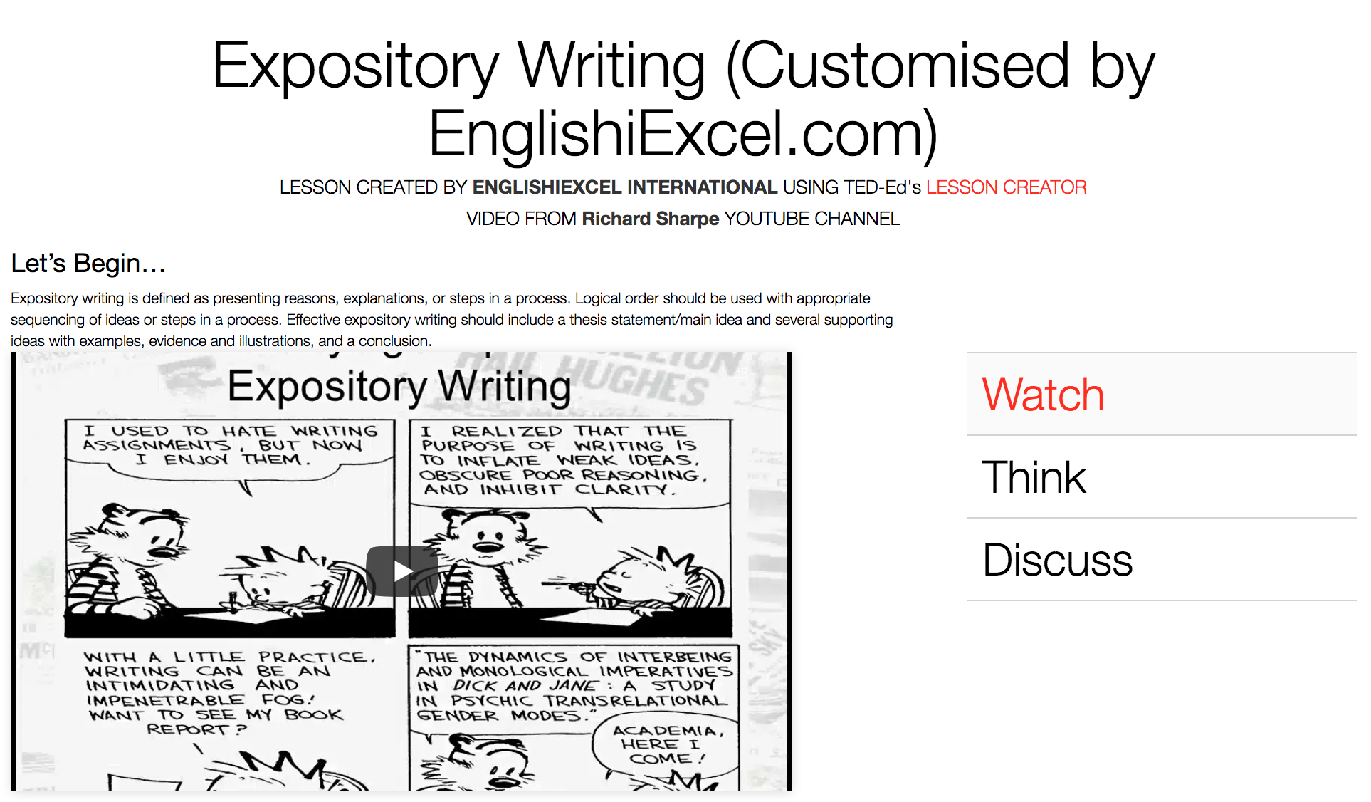 Unit 2: Expository Writing - https://ed.ted.com/on/wgRNDtl1