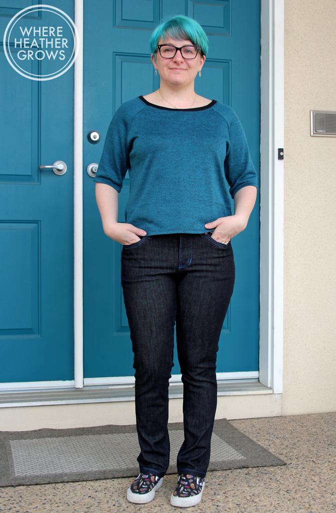 Closet Case Ginger Jeans and Grainline Studio Linden Sweatshirt