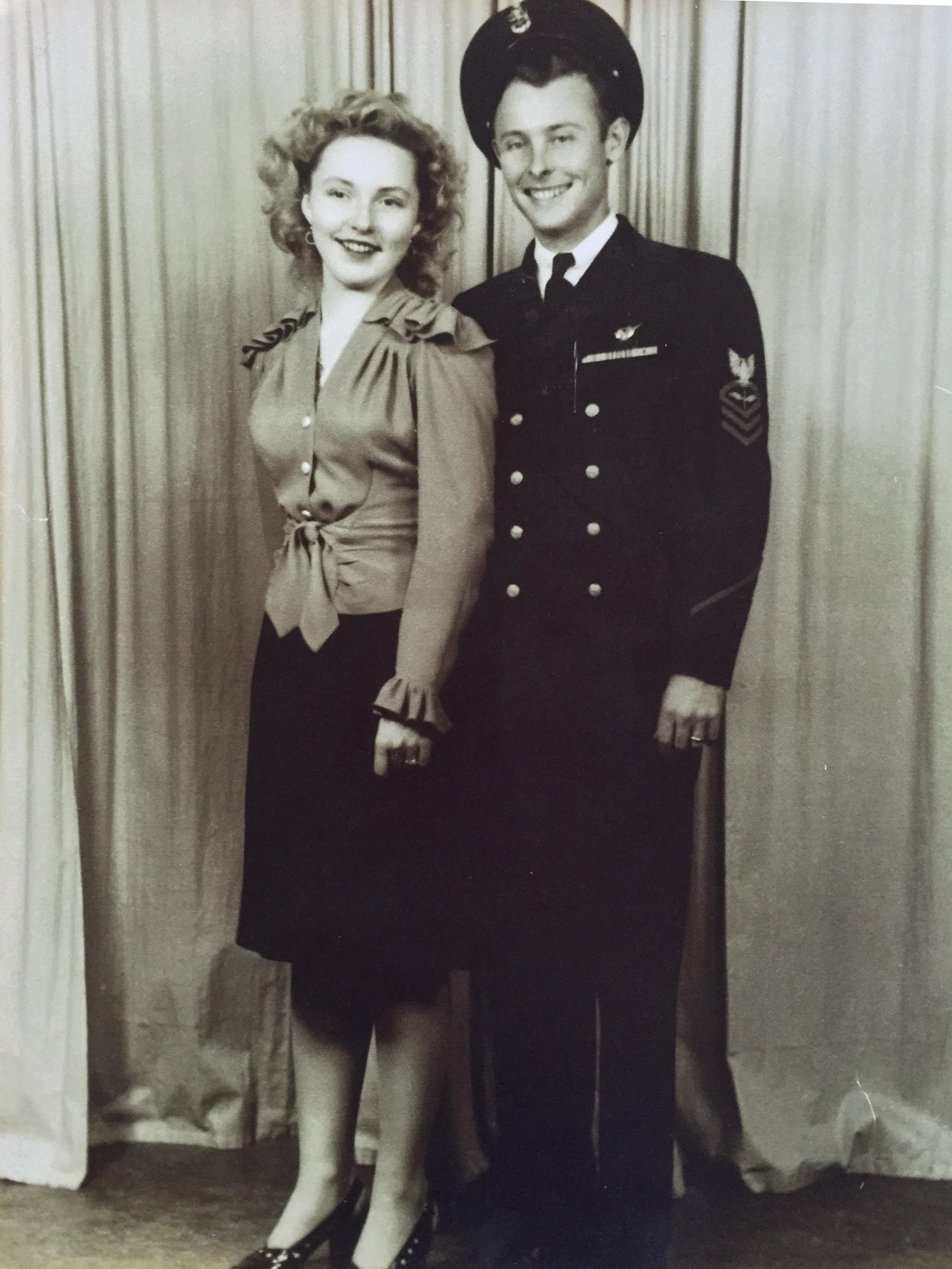 My grandparents' wedding day